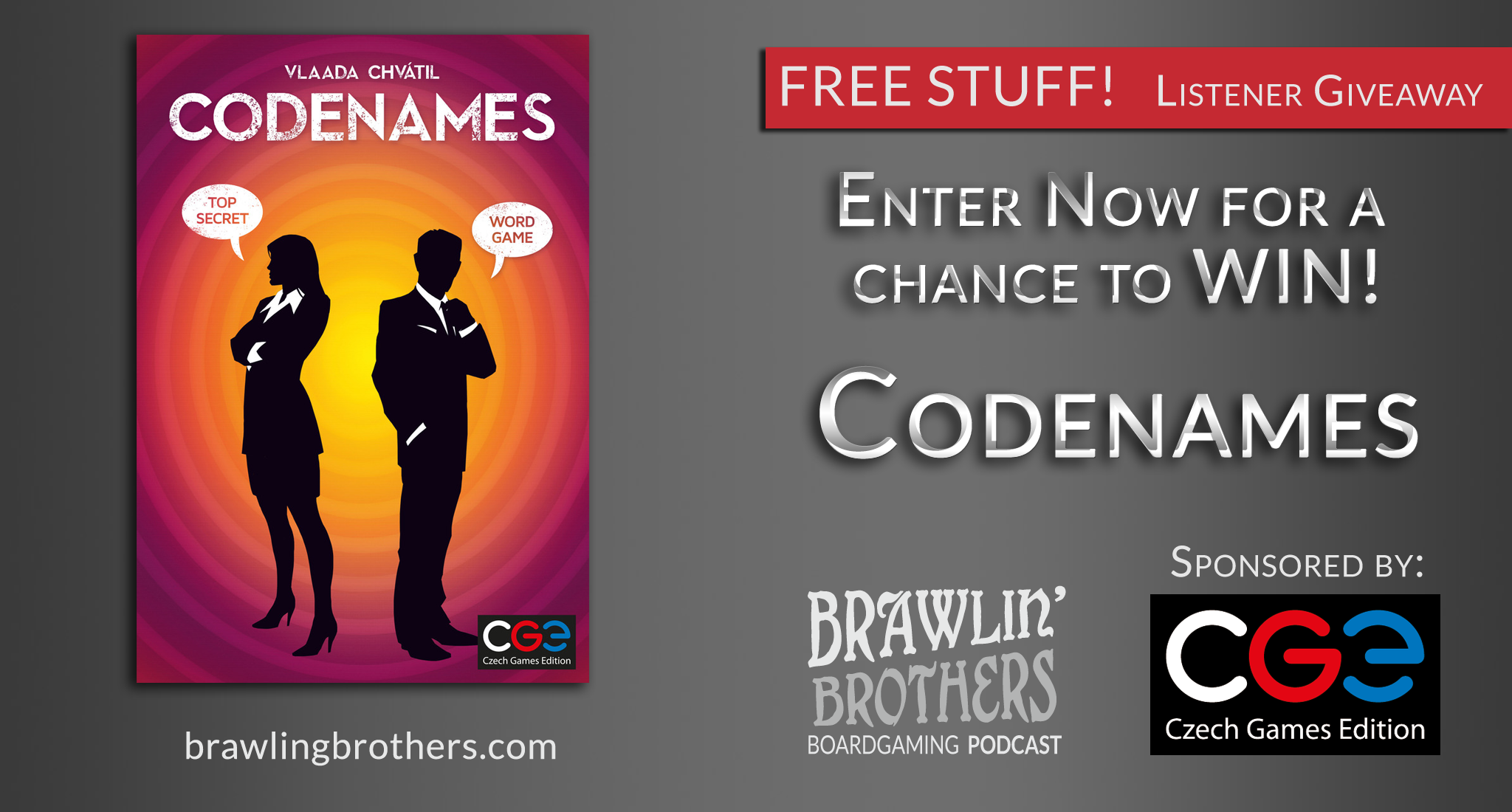 WIN - GIVEAWAY! Enter to win Codenames ⋆ Brawling Brothers